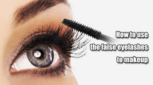 How to use the false eyelashes to makeup