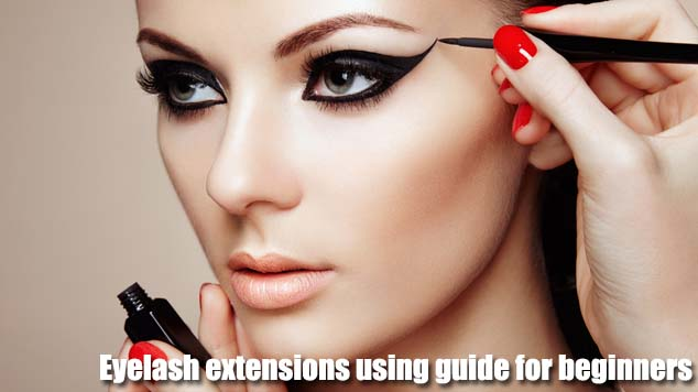 Eyelash extensions using guide for beginners