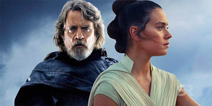 rey and luke skywalker